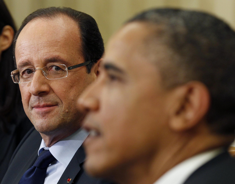Барак Обама и Франсуа Олланд в Белом доме 18 мая 2012.