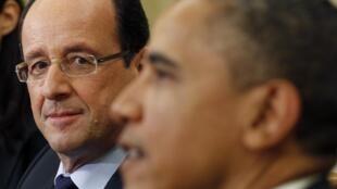 Barack Obama et François Hollande à la Maison blanche, le 18 mai 2012.