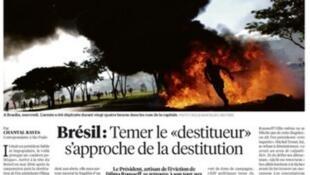 Matéria publicada no jornal Libération desta sexta-feira (26) sobre a crise política no Brasil.