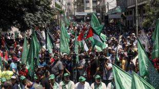 Estas últimas semanas las manifestaciones de Hamas contra el plan de Paz para Oriente Medio del presidente norteamericano  Donald Trump han sido casi diarias.