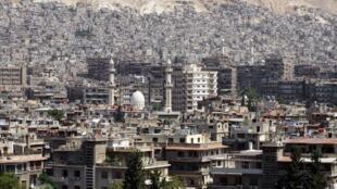 Vista geral de Damasco, capital da Síria