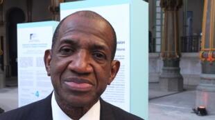 Kabiné Komara, haut commissaire de l'OMVS (Organisation pour la mise en valeur du fleuve Sénégal) et ancien Premier ministre de Guinée.