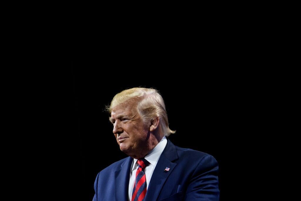 美國總統特朗普於2019年10月28日。
