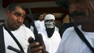 Grupo de autodefensa en Nueva Italia, en el estado de Michoacán.