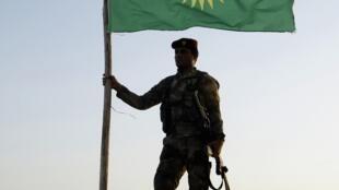 Drapeau kurde.