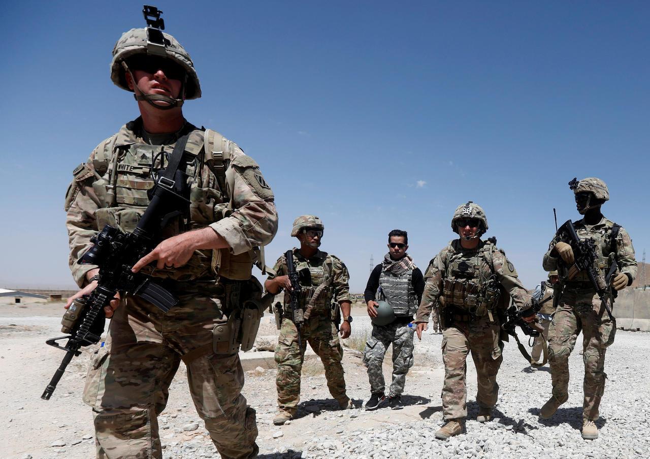美軍在阿富汗以東洛迦省(Logar)軍事基地巡邏    2018年8月7日