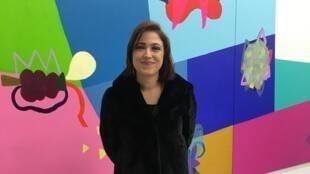 A artista Maria Lynch