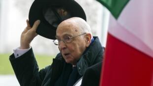 Aos 87 anos, o presidente italiano Giorgio Napolitano foi reeleito para um segundo mandato.