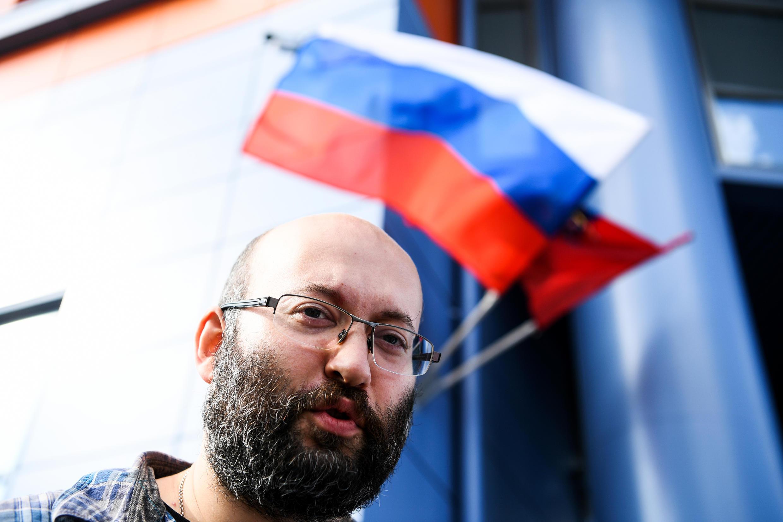 Журналист Илья Азар оказался среди задержанных у здания на Петровке, 38, 26 мая 2020 г.