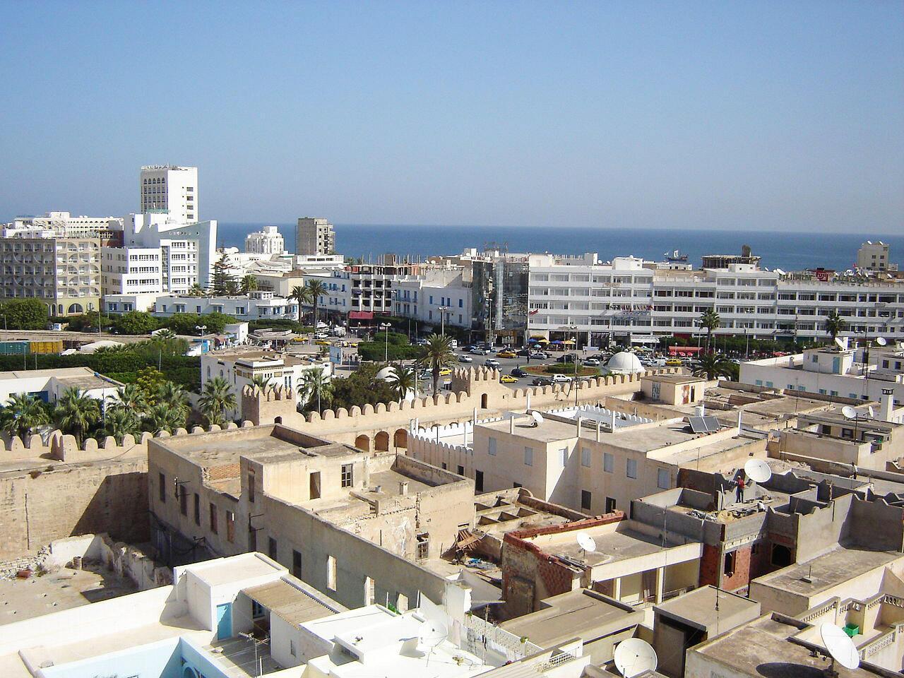 Une vue de la ville européenne de Sousse, la capitale du «Sahel» tunisien.