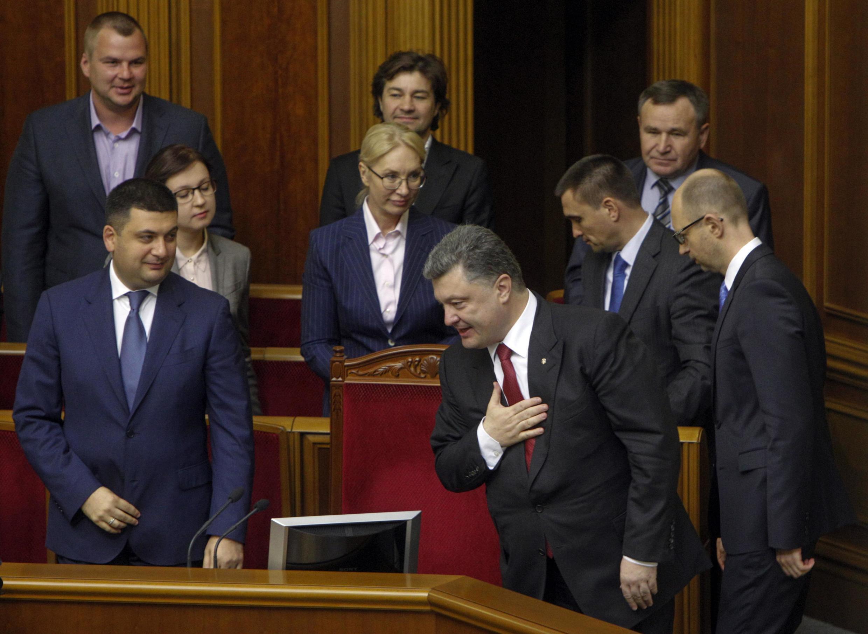 Петр Порошенко в Верховной Раде, 16 сентября 2014 г.