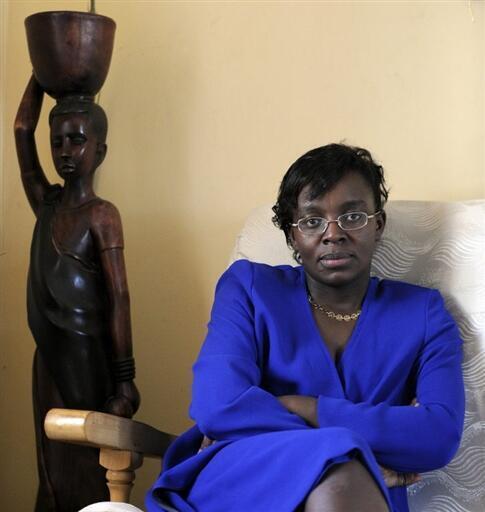Victoire Ingabire Umuhoza, la présidente du parti rwandais Forces démocratiques unifiées (FDU), le 7 avril 2010.