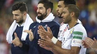 Handball - Men's EHF European Handball Championship - main round Group I - Serbia v France - Arena Zagreb, Zagreb, Croatia - January 22, 2018. France's team celebrates after the match.