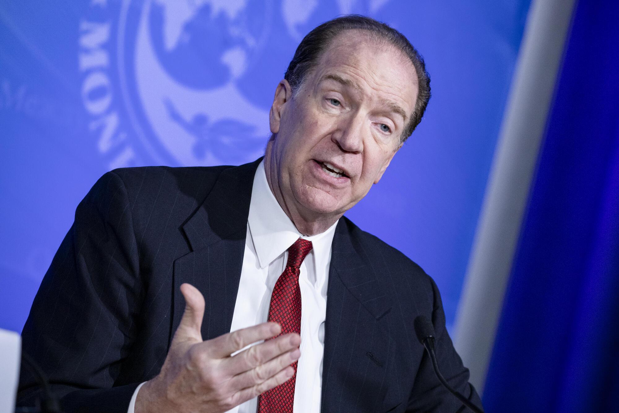 David Malpass, le président de la Banque mondiale, le 4 mars à Washington.