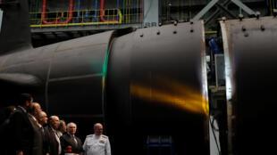 Michel Temer durante lançamento simbólico da fabricação do primeiro submarino em Iguataí