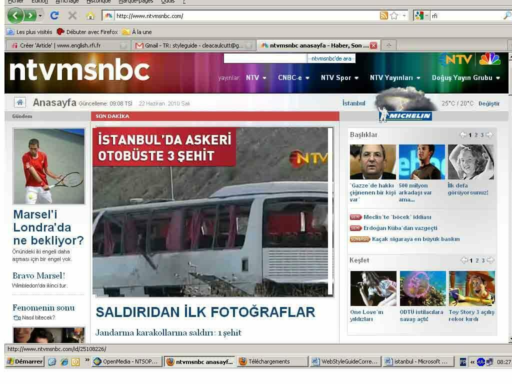 Three soldiers were killed on Tuesday in a bomb attack in Istanbul, NTV reports.