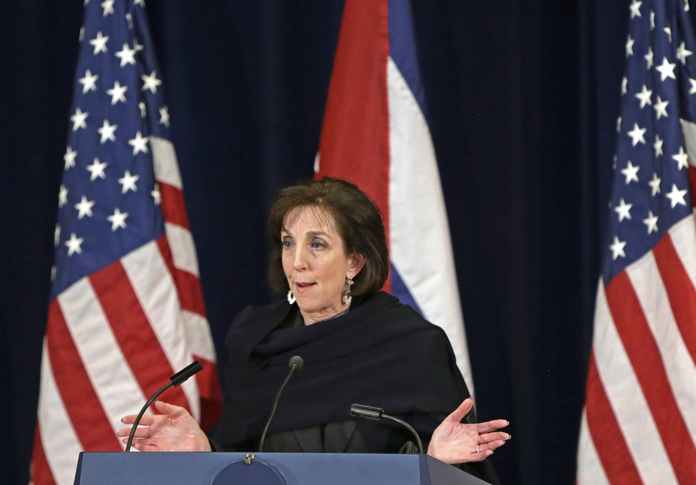 Roberta Jacobson, la négociatrice des Etats-Unis pour la reprise des relations diplomatiques entre les deux pays, à Washington, le 27 février 2015.