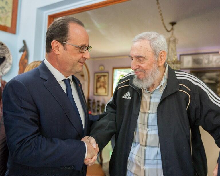 Встреча Франсуа Олланда с Фиделем Кастро в Гаване 11 мая 2015