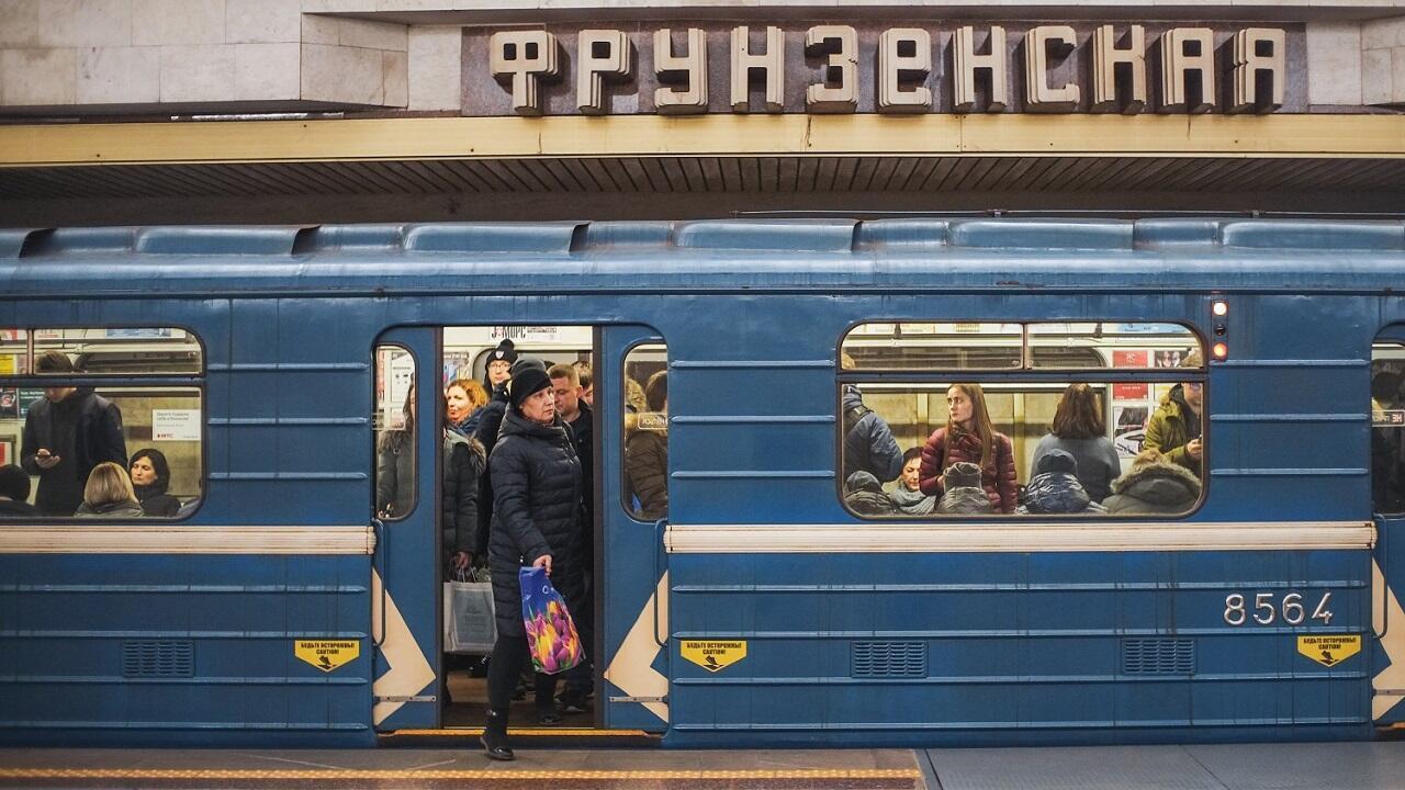 """Станция метро """"Фрунзенская"""". Минск, декабрь 2019 г."""