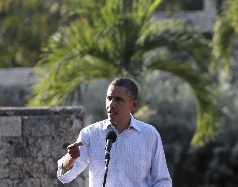 Rais wa Marekani Barack Obama akihutubiwa kwenye moja ya dhifa ambazo zilifanyika Ikulu ya White House