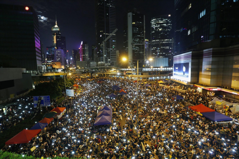 Một cuộc xuống đường đòi dân chủ ở Hồng Kông năm 2014.