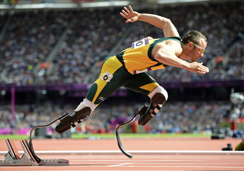 Oscar Pistorius wakati wa mashindano ya Olimpiki 2012 jijini London