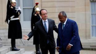 François Hollande a reçu à l'Elysée Ismaïl Omar Guelleh, le président de Djibouti, le 28 février 2017.
