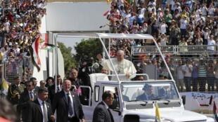 O Papa Francisco chega a Amã, na Jordânia