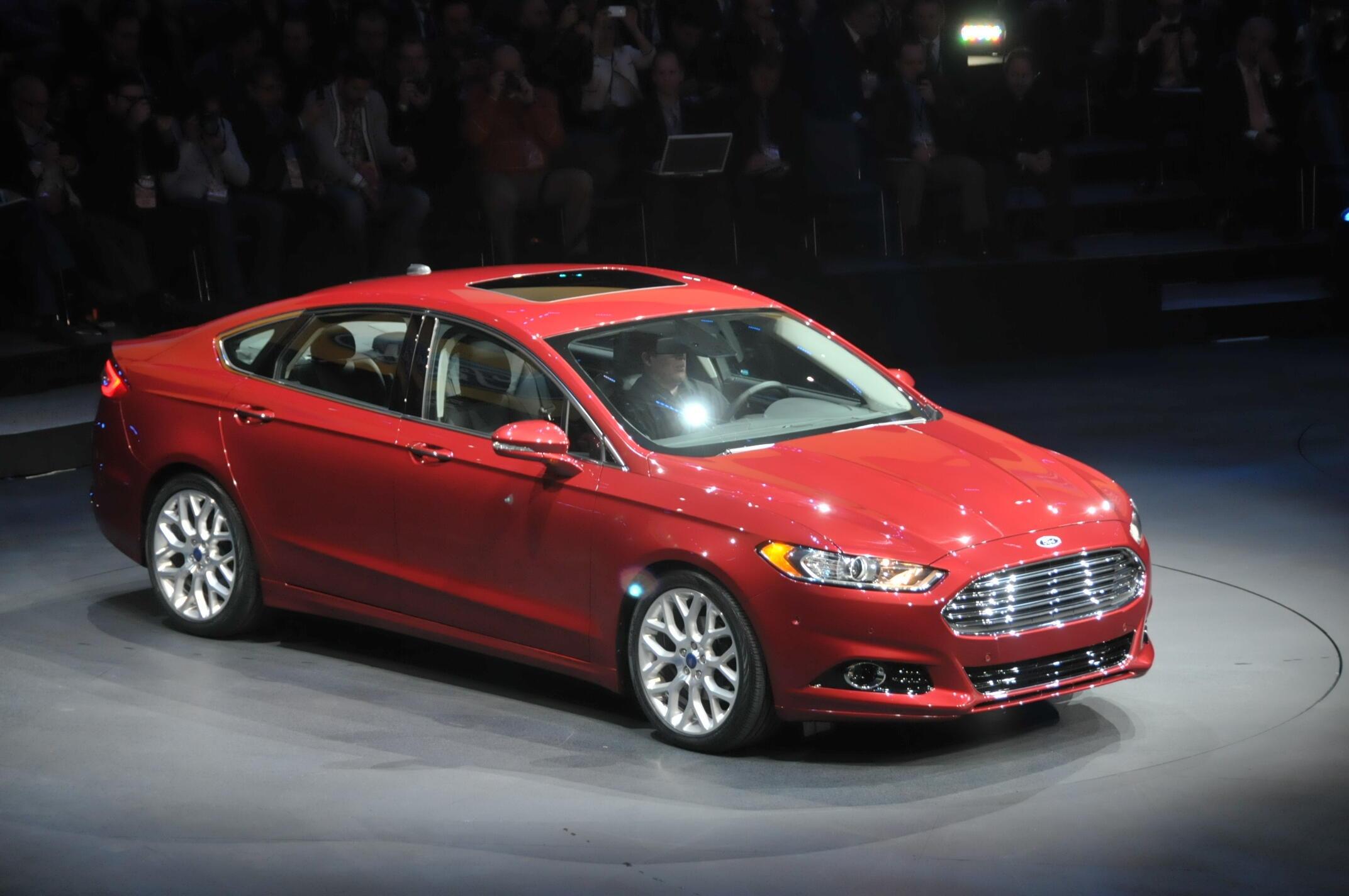 La nouvelle Ford Fusion, présentée lors du salon automobile de Détroit.