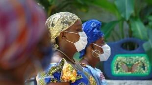 Des prêtresses vaudou lors d'une cérémonie à Port-au-Prince, le 1er mai 2020.