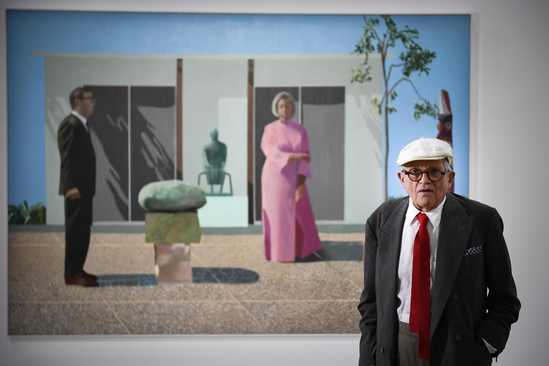 Họa sĩ Anh David Hockney giới thiệu tác phẩm ''Fred et Marcia Weisman'' tại trung tâm Pompidou