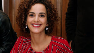 Moroccan-born Leila Slimani after the announcment that she won the Goncourt prize.