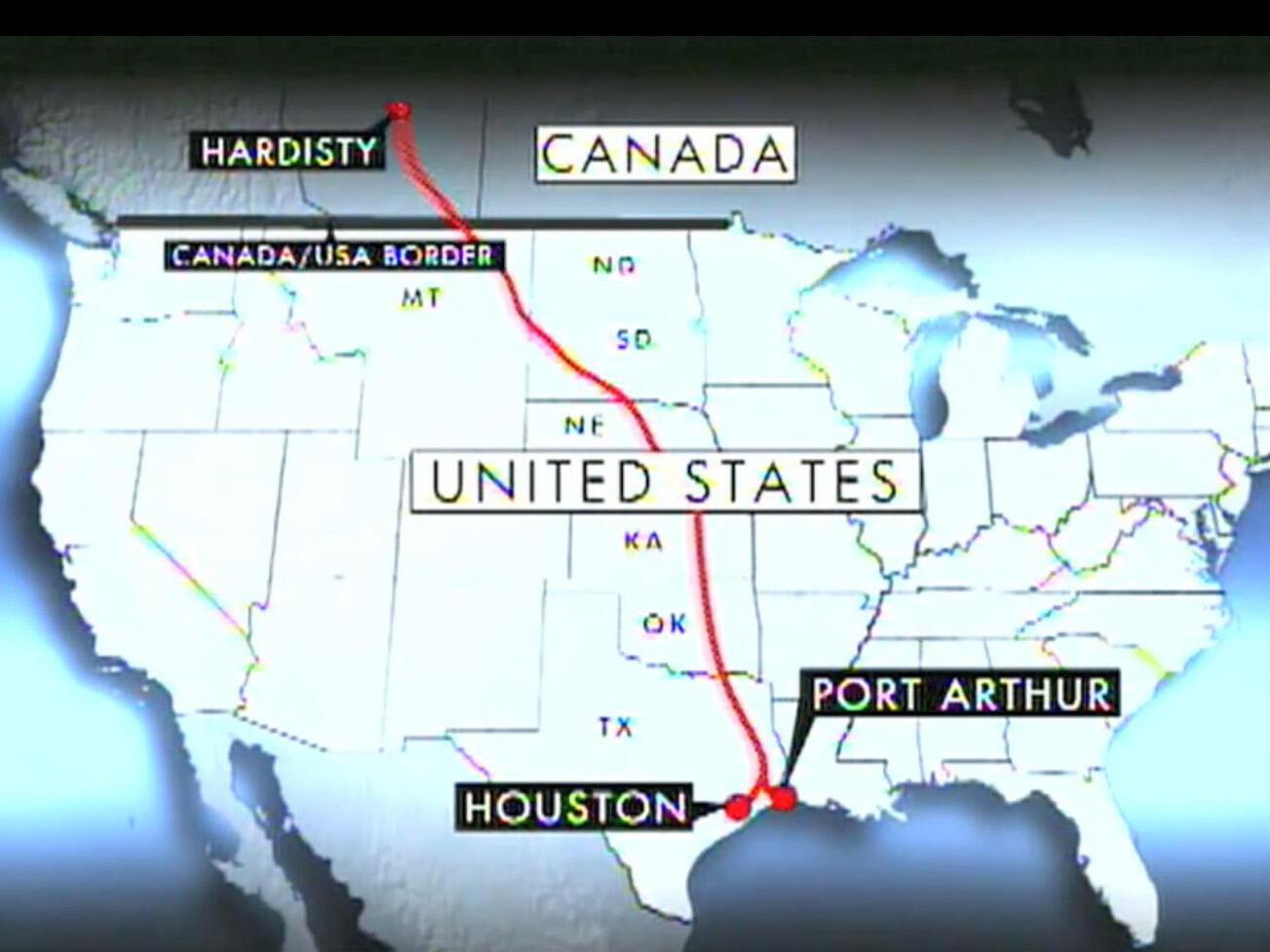 El oleoducto partirá de Alberta, Canadá, y atravesará seis estados estadounidenses hasta Texas.