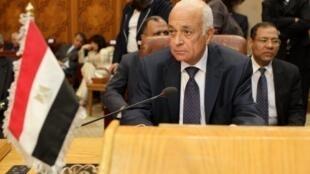 Le ministre égyptien des Affaires étrangères, Nabil al-Arabi, lors de son élection à la tête de la Ligue arabe, au Caire, le 15 mai 2011.