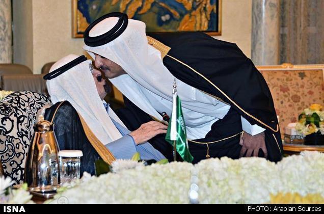 امیر قطر و پادشاه عربستان