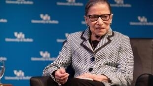 Shugabar alkalan kotun kolin Amurka Ruth Bader Ginsburg.