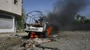 Место двойного теракта в г. Кетта, 07/09/2011