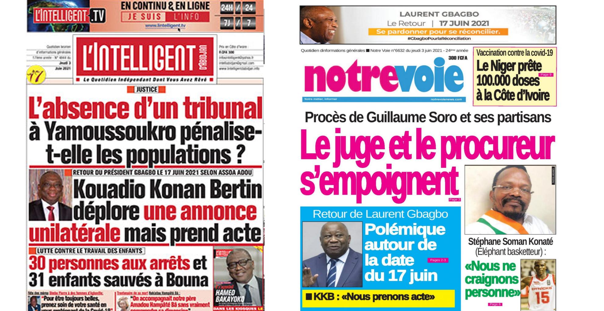 Une journaux Côte d'Ivoire