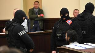 Салах Абдеслам на суде в Бельгии. 5 февраля 2018 г.