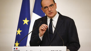 French Prime Minister Jean Castex announces tougher measures to fight the Covid-19 crisis, 22 October 2020.