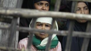 Des femmes Rohingyas à Sittwe, en Birmanie. Cette minorité musulmane compte 800 000 membres en Birmanie.