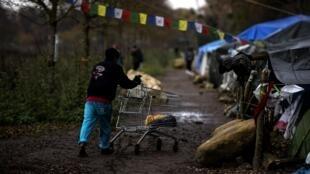 大批藏人在巴黎郊区圣日耳曼昂莱森林安营扎寨等待庇护2019年12月2日阿谢尔市