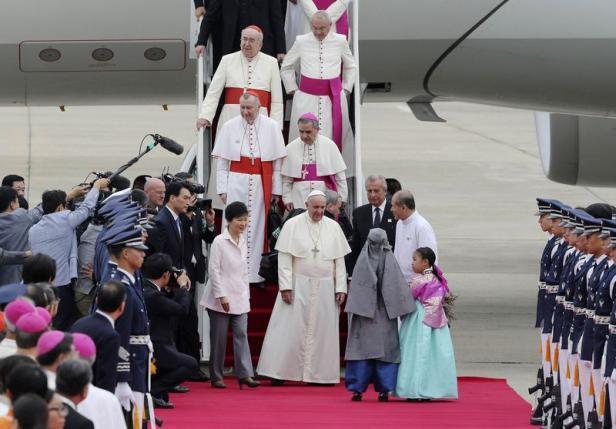 Giáo hoàng Phanxicô công du Hàn Quốc, Seoul 14/08/2014.