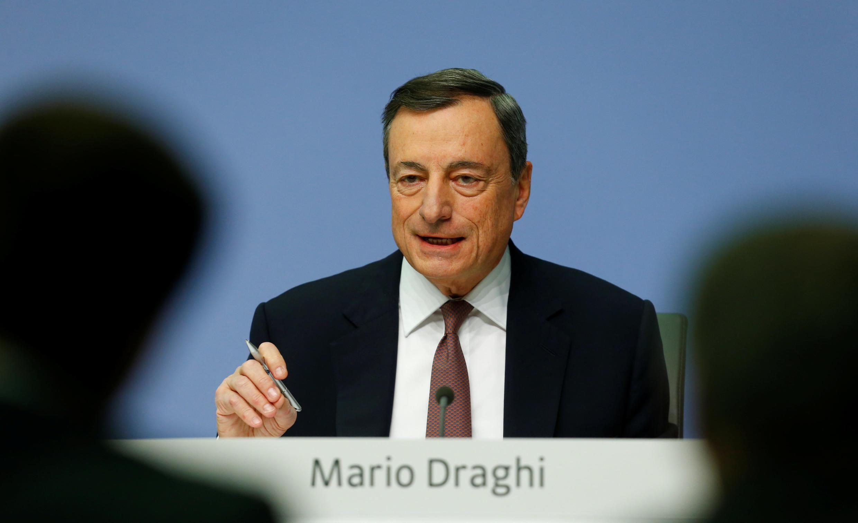Le président de la BCE, Mario Draghi, le 14 décembre 2017 à Francfort.