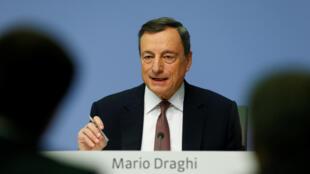 Le président de la BCE, Mario Draghi, le 14 décembre à Francfort.