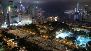 Le 4 juin 2019, pour les 30 ans du massacre de de Tiananmen, la veillée aux bougies avit attiré des milliers de personnes au Victoria Park à Hong Kong.