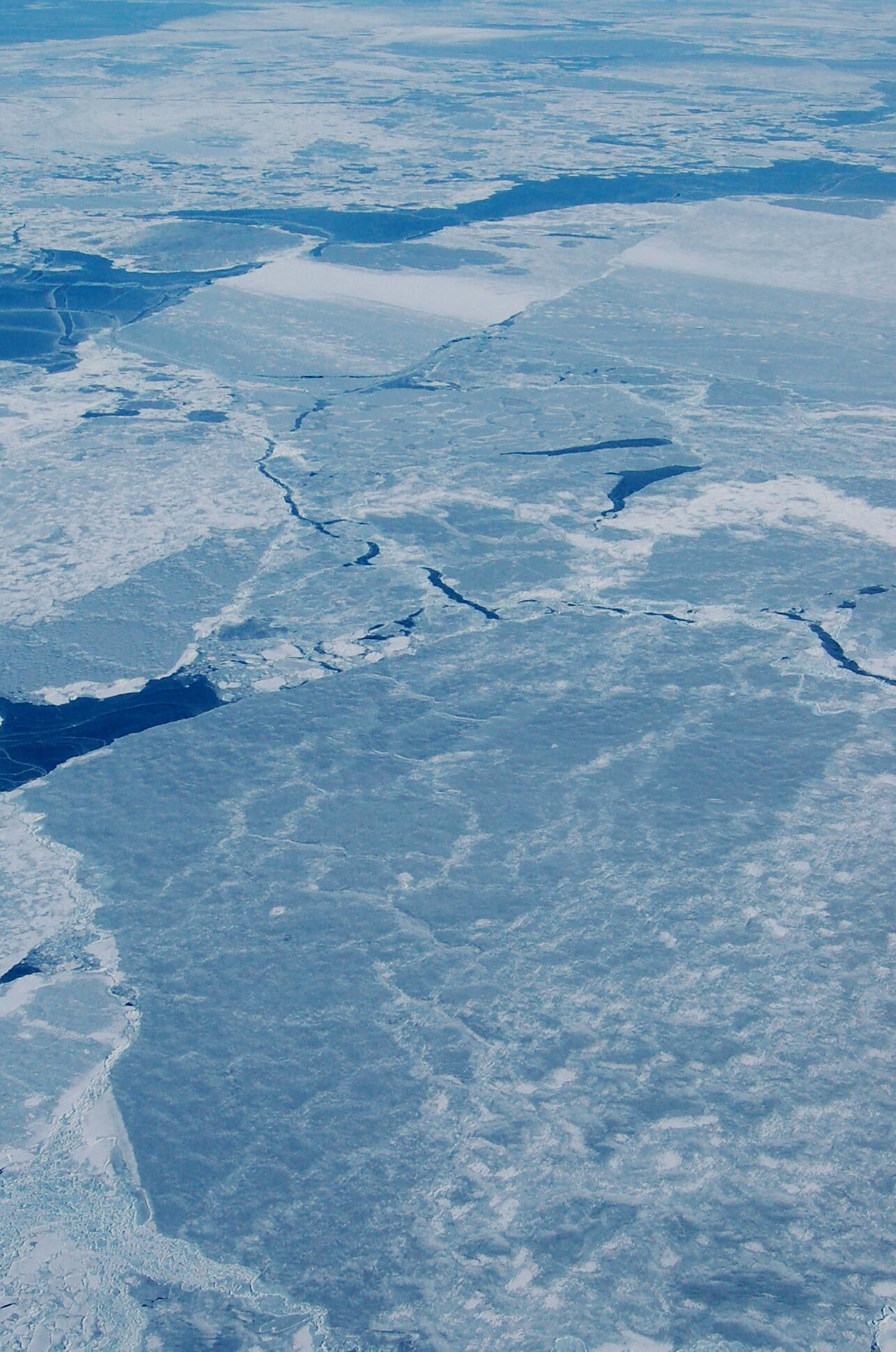 Imagem da camada de gelo no Pólo Norte. Segundo cientistas Ártico tem maior degelo já registrado.