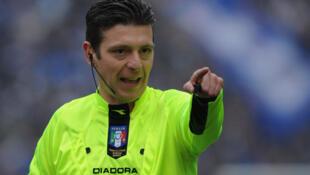 Gianluca Rocchi, l'arbitre controversé du match Juventus - AS Roma (3-2), le dimanche 5 octobre 2014.