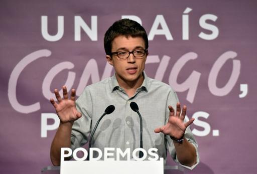 Kiongozi namba mbili wa chama cha PODEMOS, Inigo Errejon, Desemba 20, 2015, Madrid.