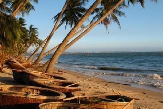 Bãi biển Mũi Né của Việt Nam.